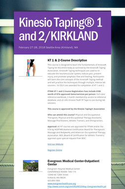 Kinesio Taping® 1 and 2/KIRKLAND