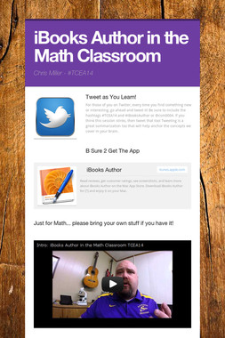 iBooks Author in the Math Classroom