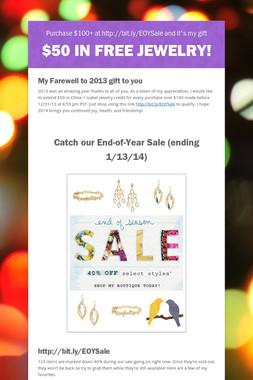 $50 in Free Jewelry!