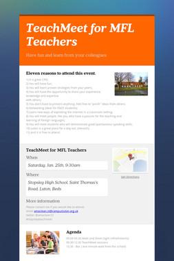 TeachMeet for MFL Teachers