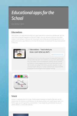 Educational apps for the School