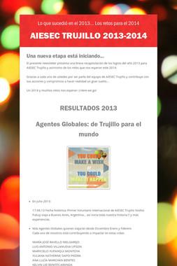 AIESEC TRUJILLO 2013-2014