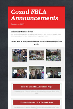 Cozad FBLA Announcements