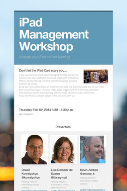 iPad Management Workshop