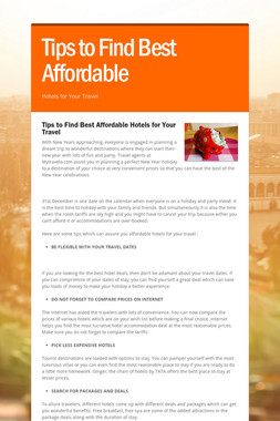 Tips to Find Best Affordable