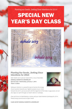 Special New Year's Day Class