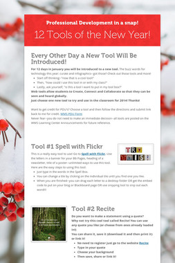 12 Tools of the New Year!