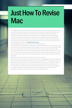 Just How To Revise Mac
