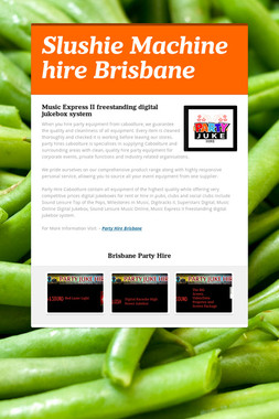 Slushie Machine hire Brisbane