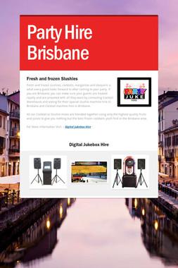 Party Hire Brisbane