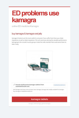 ED problems use kamagra