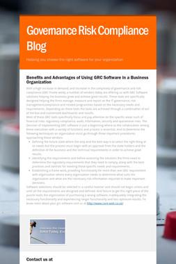 Governance Risk Compliance Blog