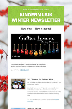 Kindermusik Winter Newsletter