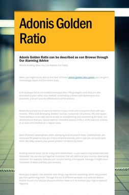 Adonis Golden Ratio