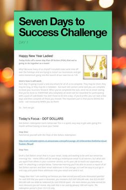 Seven Days to Success Challenge
