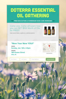 doTerra Essential Oil Gathering