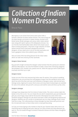 Collection of Indian Women Dresses
