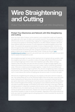 Wire Straightening and Cutting