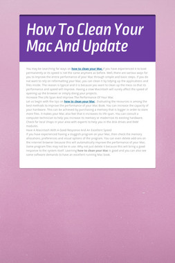 How To Clean Your Mac And Update