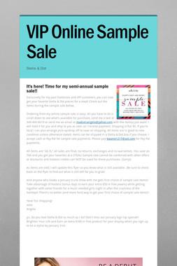VIP Online Sample Sale
