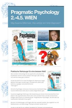 Pragmatic Psychology 2.-4.5. WIEN