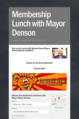 Membership Lunch with Mayor Denson