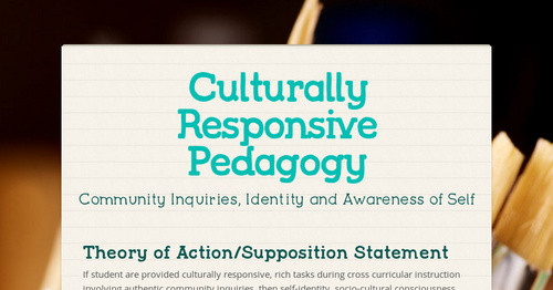 Culturally Responsive Pedagogy Smore Newsletters