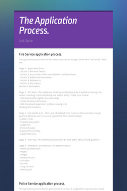 The Application Process.