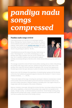 pandiya nadu songs compressed