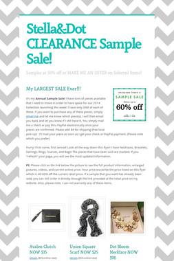 Stella&Dot CLEARANCE Sample Sale!