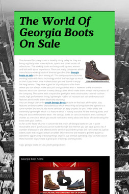 The World Of Georgia Boots On Sale