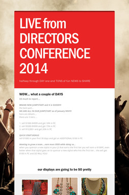 LIVE from DIRECTORS CONFERENCE 2014