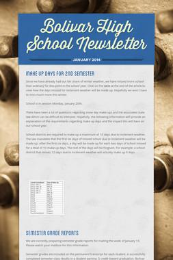 Bolivar High School Newsletter