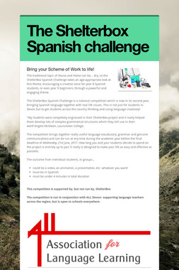 The Shelterbox Spanish challenge