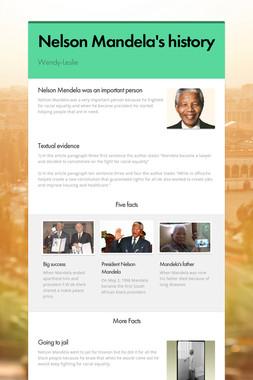 Nelson Mandela's history