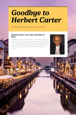 Goodbye to Herbert Carter