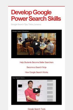 Develop Google Power Search Skills