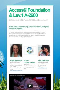 Access® Foundation & Lev.1  A-2680