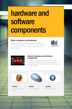hardware and software components