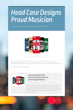 Head Case Designs Proud Musician