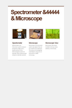 Spectrometer &44444   & Microscope
