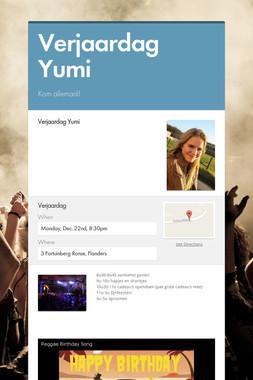 Verjaardag Yumi