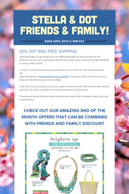 STELLA & DOT FRIENDS & FAMILY!