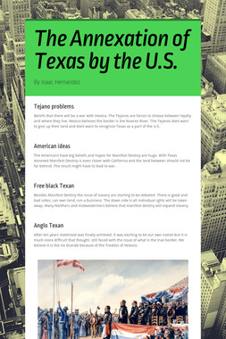 The Annexation of Texas by the U.S.