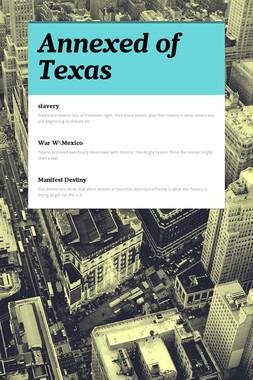 Annexed of Texas