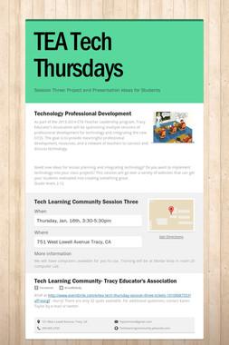 TEA Tech Thursdays