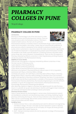 PHARMACY COLLGES IN PUNE