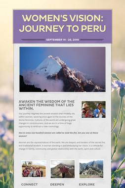 Women's Vision: Journey to Peru