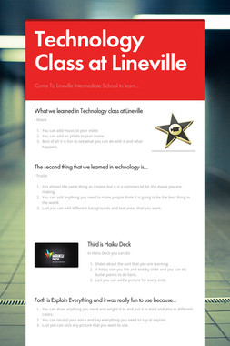 Technology Class at Lineville