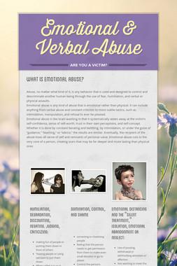 Emotional & Verbal Abuse